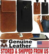 # Handy Genuine Leather Belt Loop & Hook Holster Case Cover For Mobile Phones
