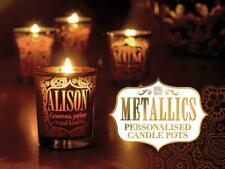 Personalised Metallic Candle Pot Votive / Tealight Holder