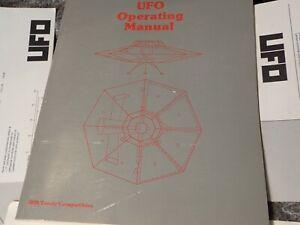 1989 SubLOGIC UFO Operating Manual, Control Summary, & Maps First Edition 1st Pr