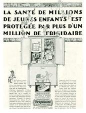 Publicité ancienne Frigidaire l'hydrator 1930 issue de magazine