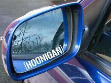 75mm 7.5cm x2 Hoonigan Specchietto Laterale Adesivi x2 Decalcomanie