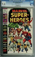 MARVEL SUPER-HEROES SUPER HEROES #21 CGC 9.6 OWW PAGES JACK KIRBY ART