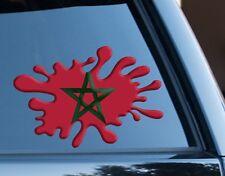 Marruecos Bandera Splat Gracioso Decal Sticker Coche, Furgoneta, Ordenador Portátil, puertas de la Copa del Mundo 2018