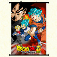 Anime Dragon Ball Z Super Saiyan Wall Scroll Poster Home Decor Art Cos Painting