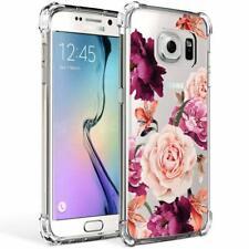 Samsung Galaxy S7 Case Floral Pattern Slim Flexible Silicone Bumper Rubber Cover