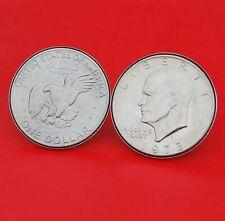 US 1973 Eisenhower Dollar Coins Silver Plated Cufflinks