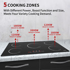 Built-in Electric Induction Cooktop 36inch 5 Burner Stove Touch Control Timer  photo