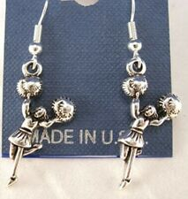 Large Cheering Cheerleader Earrings French Hooks - Free shipping