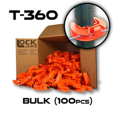 T-360 Electric Fence Insulators (100 BULK), LockJawz Orange, Straight & Corners