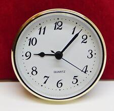 "Complete Clock Insert Fit Up Movement 3 1/2"" Diameter White Dial Arabic GWA3.5"