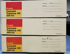 Kodak Carousel Transvue 140 Slide Trays Lot of 3 Orig Box Exc Cond
