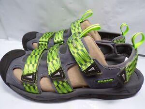 Exustar Clipless Cycling Sandal E-SS515A Green/Grey US Mens 13/13.5