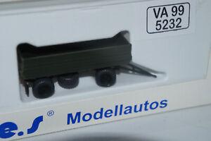 S.e.S. Modelltec Anhänger HW 80 NVA VA 99 5232     1:87 H0 DDR