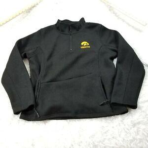 Colosseum Womens Iowa Hawkeyes 1/4 Zip Pullover Fleece Jacket XL Extra Large