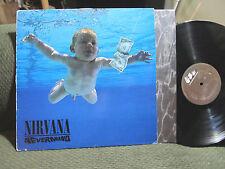 Nirvana Nevermind '91 LP Vinyl w/lyric inr rare orig holland press 1st A11/B3 !!