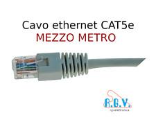 Cavo di rete ethernet LAN UTP CAT5e patch cord 0,5mt RJ45 smart TV PC SKY modem
