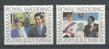 Bahamas 1981 478-79 ** Mariage Prince Charles et Lady Diana Spencer