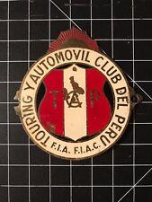 Touring Y Automovil Club Del Peru Car Badge