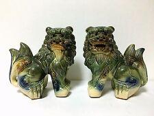 Japanese Japan,Okinawa, Shisa, lion, Shi Shi, foo dog amulet, pottery!