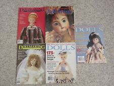 Doll Magazines Lot of 5 for Doll Makers and Anyone who Loves Dolls