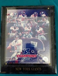 2000 NY Giants NFC Champion Plaque
