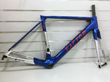 Factor O2 GIVE YOU WINGS 52cm Road Disc Brake Frameset (Blue-red-silver)