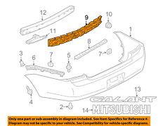 MITSUBISHI OEM 04-12 Galant Bumper Face-Foam Impact Absorber Bar MR598704