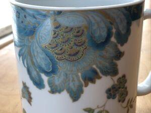 222 Fifth Eliza Teal 24oz Coffee Mug Cup floral