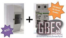 Noark DC Circuit Breaker 16A 2 Pole & Switchboard Enclosure Clipsal 4CC2 Combo