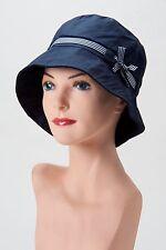 Cute + Casual NAVY BLUE BUCKET HAT Cap CHEMO HEADCOVER Cancer Turban ALOPECIA