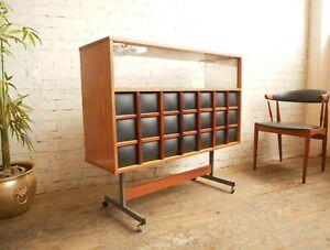Vtg Retro Mid Century Modern Modernist Barget Drinks Cabinet Home Cocktail Bar