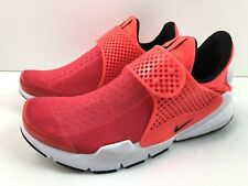 Nike Women's Sz 8 Sock Dart Red Orange Athletic Running Shoes 848475 603 NEW