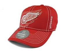 Detroit Red Wings Reebok NHL Red Draft Cap Fitted FlexFit Hat Cap L/XL