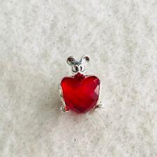 Authentic Pandora Silver Disney Mickey Love Heart Charm Bead S925
