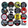 ROLLER DERBY BADGES Set of 16 - Size 32mm Buttons Badge Pins Lot