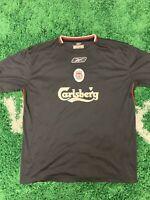 Mens Reebok Black Vintage Liverpool Football Club Soccer Jersey Sz L
