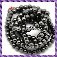 75 pcs Perles Hématite (Non Magnétique) 6mm coloris hématite