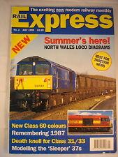 Rail Express July 1996 - class 60 - 31/33 - 37's