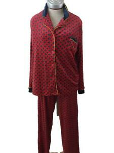 Secret Treasures 2 piece pajamas size L large 12 14 top pants sleepwear red blue