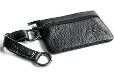Assem echt Leder Mini Geldbörse Geldbeutel Schlüsselanhänger Ringkarabiner