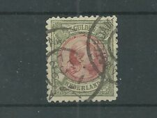 Nederland 48 Wilhelmina 5Gld   VFU/gebr  CV 575 € Certificaat !!