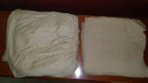 JCP Home 100 % Egyptian Cotton King Flat & Fitted Sheets,Tan~ No pillow cases~