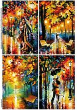 Rice paper for decoupage Romance - 2.  8,27×11,69 in. Made in Russia. 데쿠 파주 쌀 종이