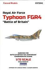 """Caracal Decals 1/72 Royal Air Force TYPHOON FGR4 """"BATTLE OF BRITAIN"""" SCHEME"""