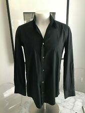 $395 Men's Dolce & Gabbana GOLD Black Button Front Dress Shirt 15.75/40 ITALY