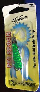 "Tony Accetta 3"" Pet Spoon #15 24k Gold Glo Ice Trolling Striper Saltwater Lure for sale online"