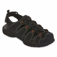 St. John's Bay Men's Norman Strap Sandals Black Size 12 NEW