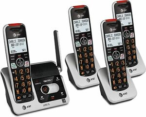 AT&T BL102-4 Cordless Phone Answering Machine Call Blocking Intercom 4 Handsets