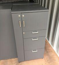 Schiavello Personal Storage & Filing Cabinet (White, Dark & Light Grey) RRP$800+