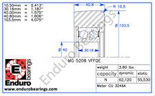 Mast Guide Bearing ENDURO MG 5208 VFFQE         forklift       Yale 580010275